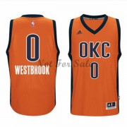 Oklahoma City Thunder Basket Tröja Russell Westbrook 0# Orange Alternate